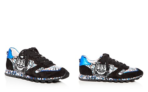 COACH x Keith Haring Women's Printed Leather & Suede Lace Up Sneakers - Bloomingdale's_2