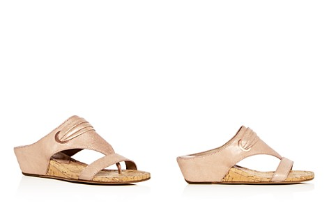 Donald Pliner Women's Dionne Leather Demi Wedge Thong Sandals - Bloomingdale's_2