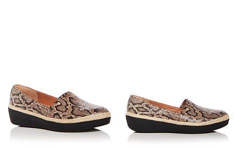FitFlop Women's Casa Snake Embossed Leather Wedge Platform Loafers - Bloomingdale's_2