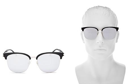 Saint Laurent Zero Base Mirrored Square Sunglasses, 56mm - Bloomingdale's_2