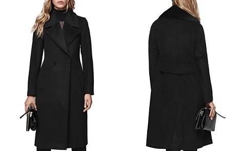 REISS Lawson Faux Fur-Trimmed Wool Coat - Bloomingdale's_2