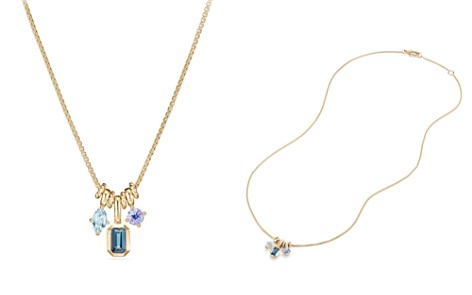 David Yurman Novella Pendant Necklace with Hampton Blue Topaz, Aquamarine & Tanzanite - Bloomingdale's_2