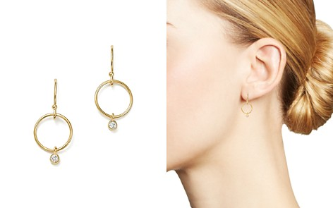 Zoë Chicco 14K Yellow Gold Circle & Diamond Bezel Drop Earrings - Bloomingdale's_2