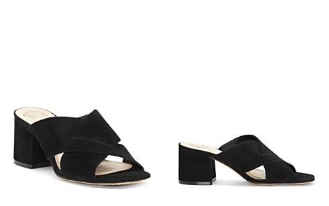 VINCE CAMUTO Women's Stania Suede Block Heel Slide Sandals - Bloomingdale's_2
