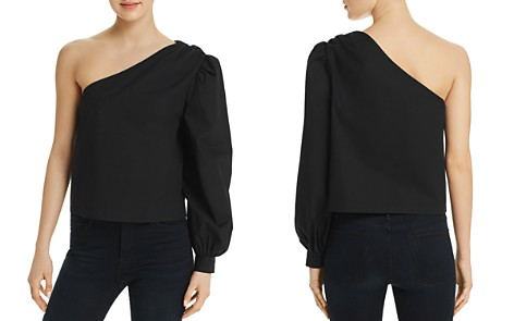 FRAME One Shoulder Blouson Top - Bloomingdale's_2