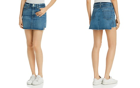 FRAME Le Mini Gusset Step Denim Skirt - Bloomingdale's_2