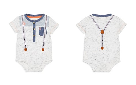 Miniclasix Boys' Bodysuit with Mock Suspenders - Baby - Bloomingdale's_2