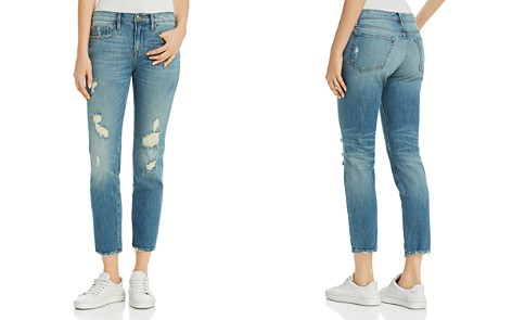 FRAME Le Boy Distressed Straight-Leg Jeans in Charter Alley - Bloomingdale's_2