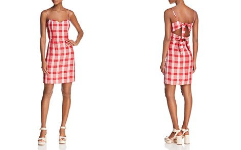 Bardot Tie-Back Plaid Dress - Bloomingdale's_2