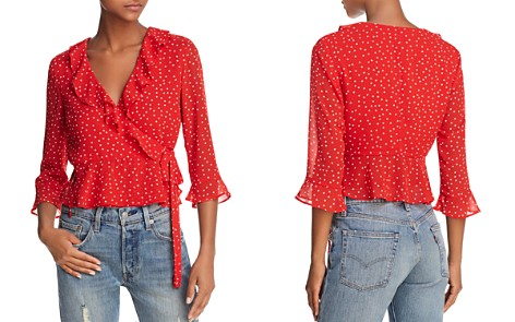Bardot Polka Dot Wrap Top - Bloomingdale's_2