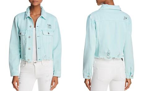 Sunset + Spring Distressed Cropped Denim Jacket - 100% Exclusive - Bloomingdale's_2