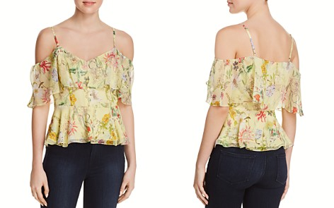 Parker Remedy Cold-Shoulder Silk Top - Bloomingdale's_2