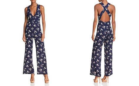 Olivaceous Floral Print Crisscross Jumpsuit - Bloomingdale's_2