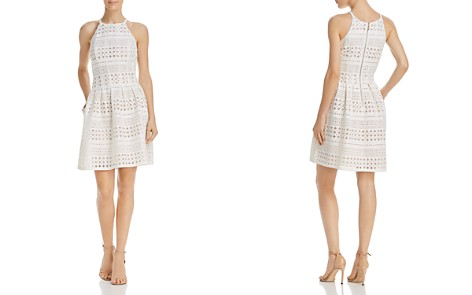 Eliza J Perforated Scuba Dress - Bloomingdale's_2