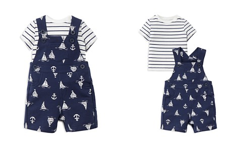 Little Me Boys' Striped Tee & Nautical Knit Overalls - Baby - Bloomingdale's_2