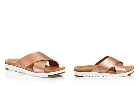 UGG® Women's Kari Leather Slide Sandals - Bloomingdale's_2