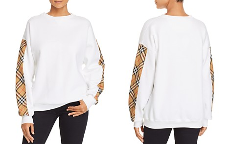 Burberry Bronx Plaid-Trimmed Sweatshirt - Bloomingdale's_2