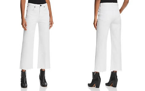 rag & bone/JEAN Justine Wide-Leg Ankle Jeans in White - Bloomingdale's_2