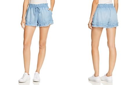 Bella Dahl Frayed-Hem Chambray Mini Shorts - Bloomingdale's_2