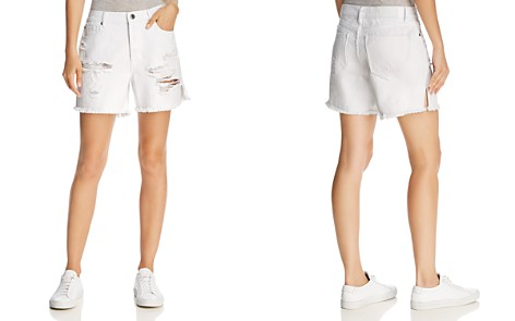 Pistola Devin Mom Cutoff Denim Shorts in White Lies - Bloomingdale's_2