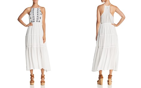 En Créme Embroidered Tiered Midi Dress - 100% Exclusive - Bloomingdale's_2