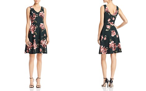 AQUA Floral Print V-Back Dress - 100% Exclusive - Bloomingdale's_2