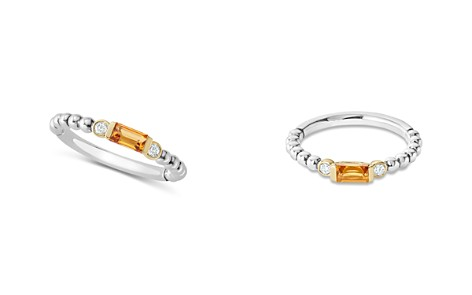 LAGOS 18K Gold & Sterling Silver Citrine & Diamond Stacking Ring - Bloomingdale's_2