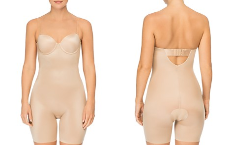 SPANX® Suit Your Fancy Strapless Convertible Underwire Mid-Thigh Bodysuit - Bloomingdale's_2