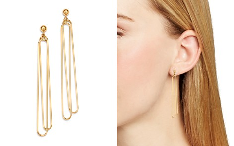 Bloomingdale's Doubled Oval Wire Drop Earrings in 14K Yellow Gold - 100% Exclusive_2