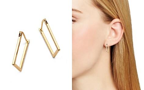 Moon & Meadow Rectangular Hoop Earrings in 14K Yellow Gold - 100% Exclusive - Bloomingdale's_2