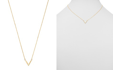 "Moon & Meadow V Pendant Necklace in 14K Yellow Gold, 16"" - 100% Exclusive - Bloomingdale's_2"