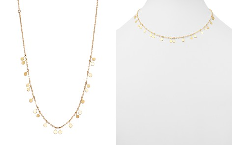 "Moon & Meadow Dangling Disc Front Necklace in 14K Yellow Gold, 16"" - 100% Exclusive - Bloomingdale's_2"