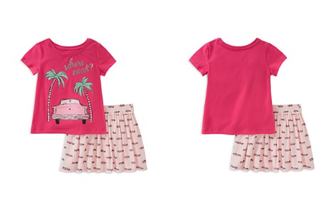 kate spade new york Girls' Where Next Road Trip Tee & Skirt Set - Baby - Bloomingdale's_2