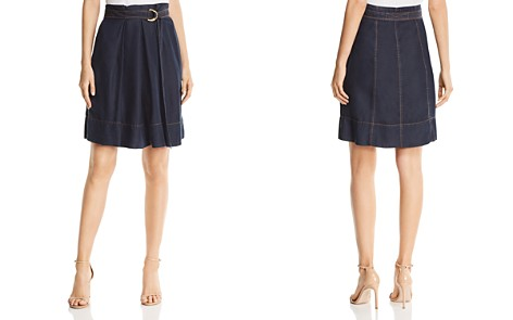 Donna Karan New York Belted Denim Skirt - Bloomingdale's_2