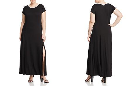 MICHAEL Michael Kors Plus Metallic Neck Maxi Dress - Bloomingdale's_2