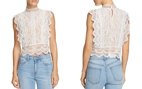 Lucy Paris Abigail Lace Cropped Top - 100% Exclusive - Bloomingdale's_2