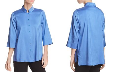 Eileen Fisher Silk Mandarin-Collar Top - Bloomingdale's_2