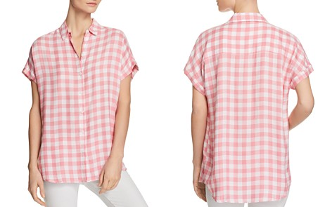 BeachLunchLounge Check Button-Down Blouse - Bloomingdale's_2