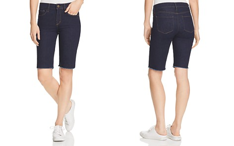 NYDJ Briella Frayed Denim Bermuda Shorts - Bloomingdale's_2