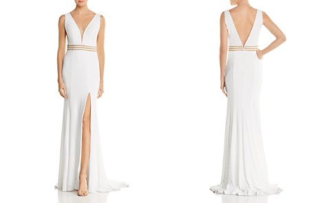 Jovani Fashions Embellished Plunge Gown - 100% Exclusive - Bloomingdale's_2