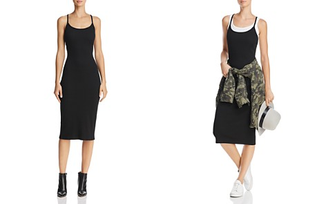 FRENCH CONNECTION Tommy Ribbed Racerback Midi Dress - 100% Exclusive - Bloomingdale's_2