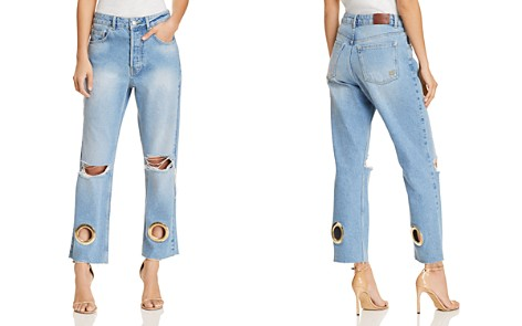 Anine Bing Giovanna Straight Jeans in Blue - Bloomingdale's_2