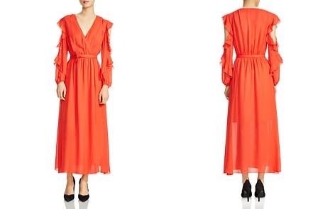 Maje Remy Ruffled Cold-Shoulder Maxi Dress - Bloomingdale's_2