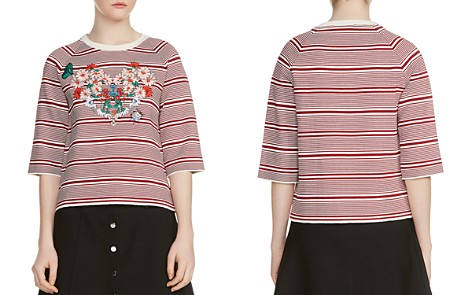 Maje Marco Embroidered Sweater - Bloomingdale's_2