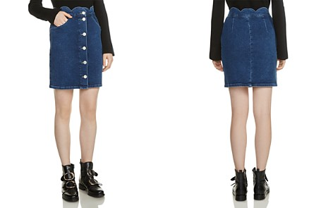 Maje Jaron Button-Front Denim Skirt - Bloomingdale's_2