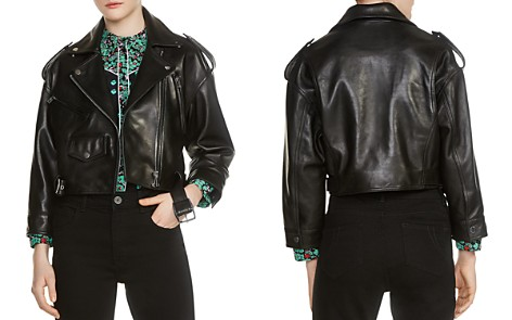 Maje Bummer Cropped Motorcycle Jacket - Bloomingdale's_2