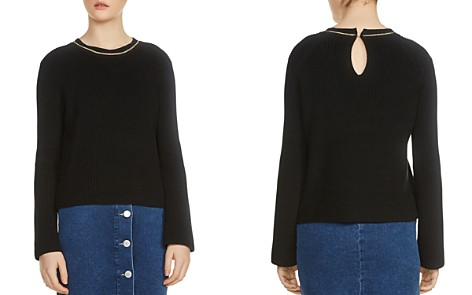 Maje Melting Long-Sleeve Chain-Trim Sweater - Bloomingdale's_2