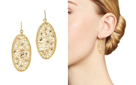 Bloomingdale's Beaded Oval Drop Earrings in 14K Yellow Gold - 100% Exclusive _2