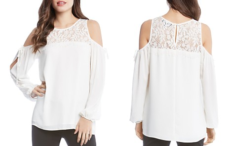 Karen Kane Lace-Yoke Cold-Shoulder Top - 100% Exclusive - Bloomingdale's_2