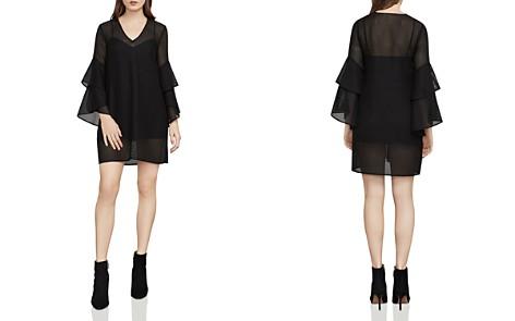 BCBGMAXAZRIA Natalea Bell Sleeve Mesh Dress - Bloomingdale's_2